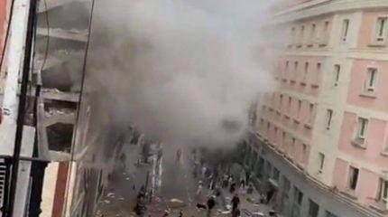 انفجار ضخم يهز وسط العاصمة الإسبانية مدريد منذ قليل..