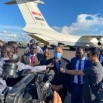 وصول وزير الري و الوقد المرافق ه الي دولة السودان